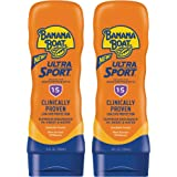 Banana Boat Ultra Sport Reef Friendly Sunscreen Lotion, Broad Spectrum SPF 15, 8 Ounces - Twin Pack
