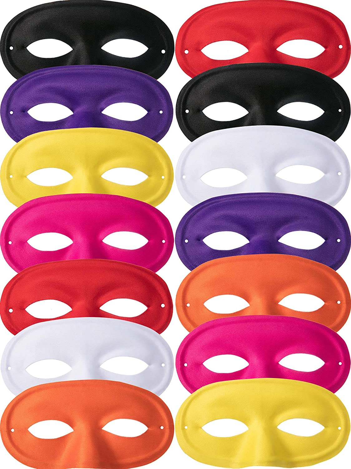 Bememo 14 Pieces Kids Half Masks Masquerade Mask Kids Christmas Mask for Children Party Cosplay Accessory