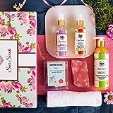 Seer Secrets Bath Indulgence Set Box Consisting Of Body Cleanser, Bath Oil, Face Mist, Gemstone Bath Bar & A Towel