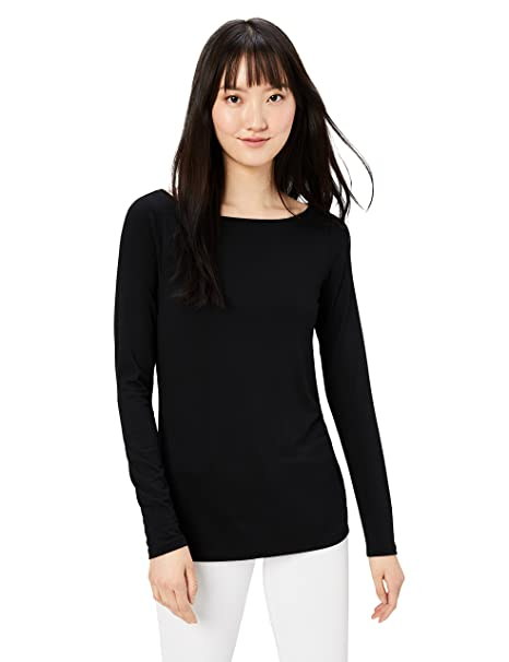 daa1085bfb809 Amazon.com  Daily Ritual Women s Jersey Long-Sleeve Bateau-Neck T ...