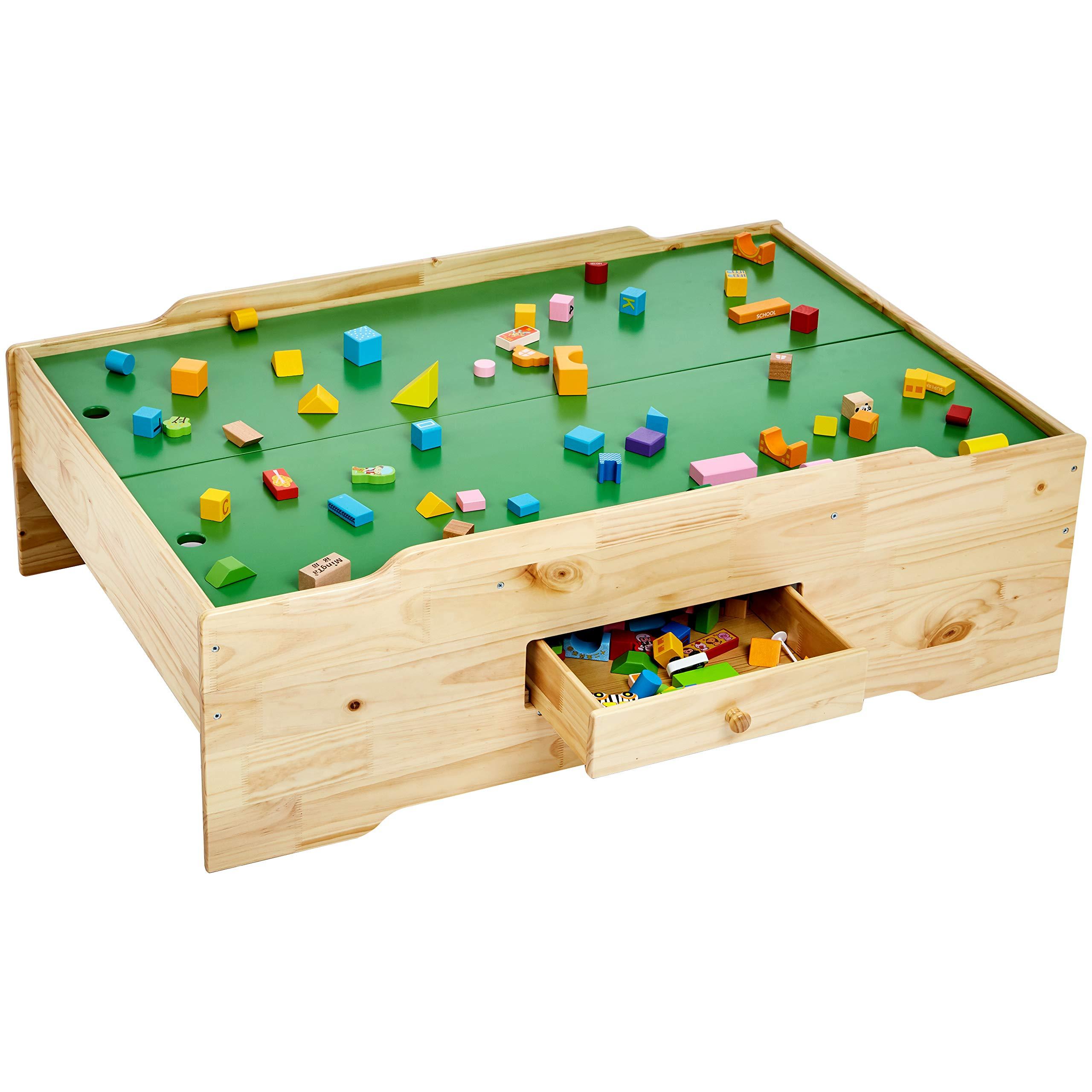 AmazonBasics Wooden Multi-Activity Play Table, Natural by AmazonBasics (Image #6)