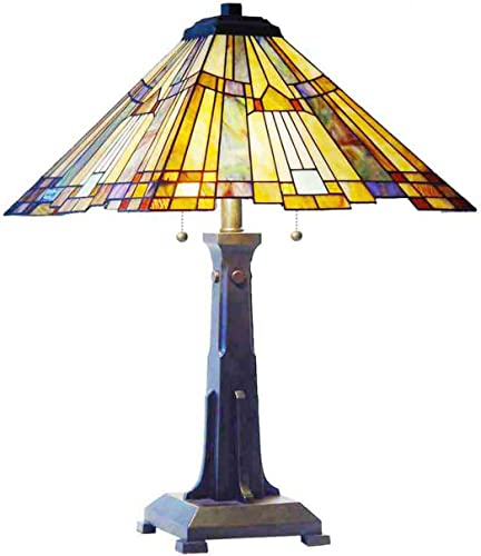 Fine Art Lighting JM1628 252 Glass Cuts Tiffany Table Lamp, 16 x 25