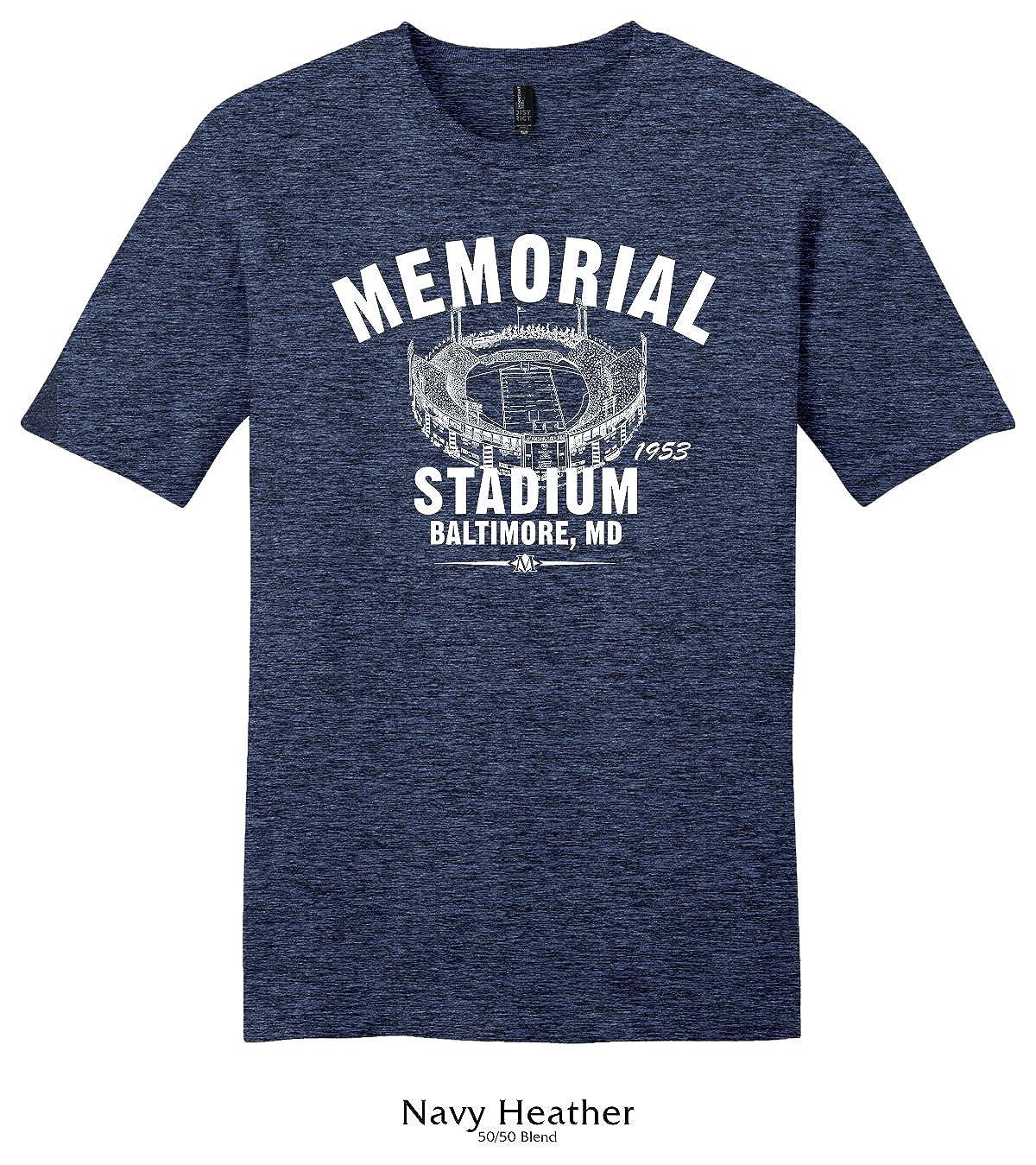 Throwbackmax 1953 Memorial Stadium Baltimore Colts Football Tee Shirt
