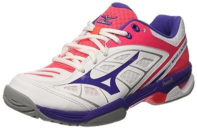 Mizuno Wave Exceed AC (W), Chaussures de Tennis Femme, Multicolore (White/Liberty/Divapink 67), 40 EU