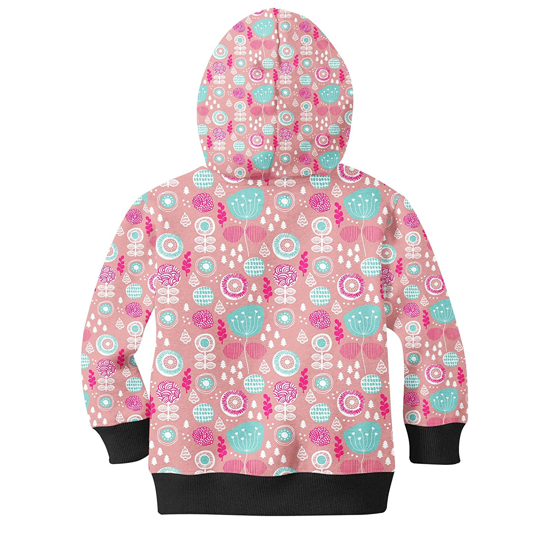 Winter Poppy Garden Kids Zip Up Hoodie Unisex