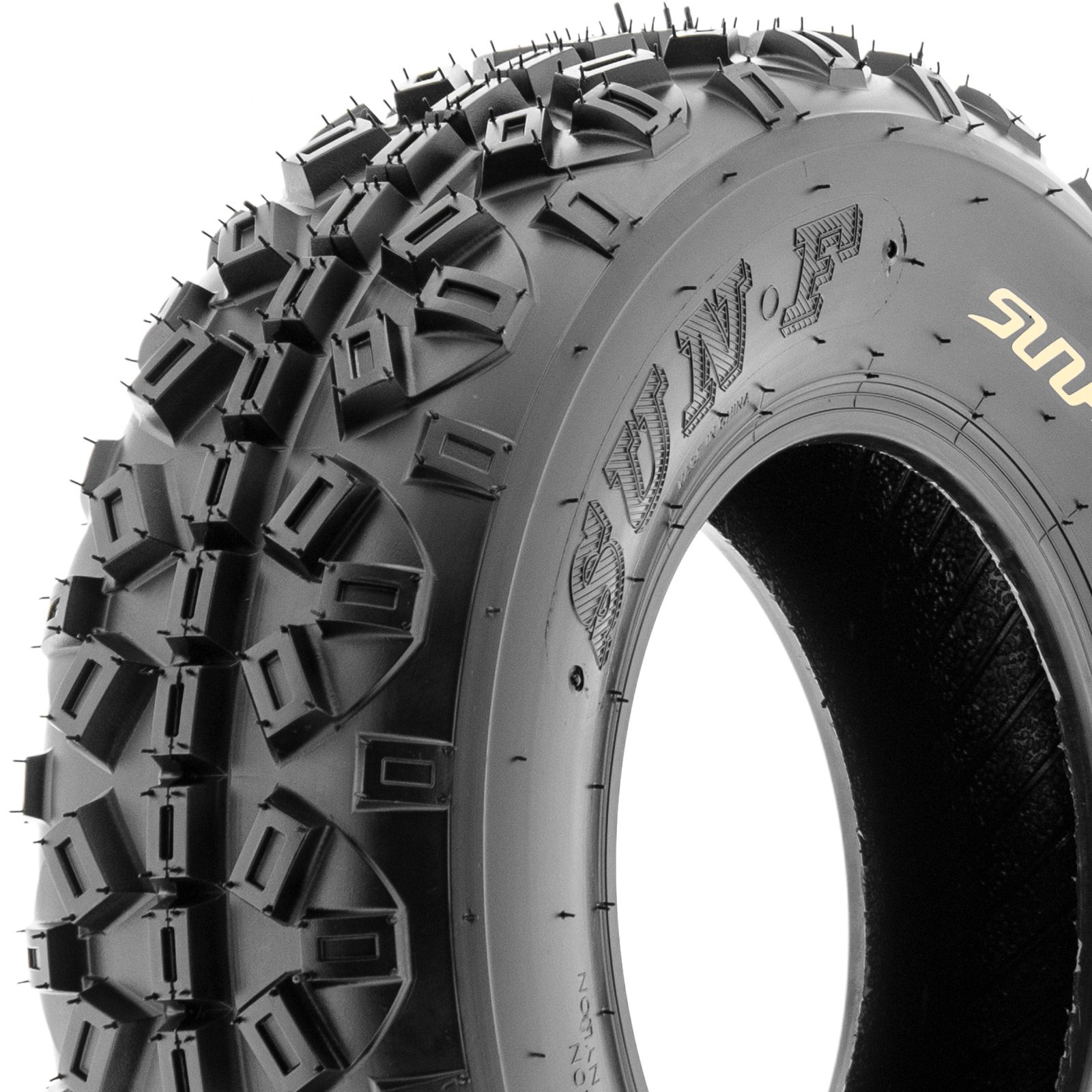 SunF Knobby XC MX ATV Tires 21x6-10 & 20x11-9 6 PR A035 (Full set of 4, Front & Rear) by SunF (Image #7)