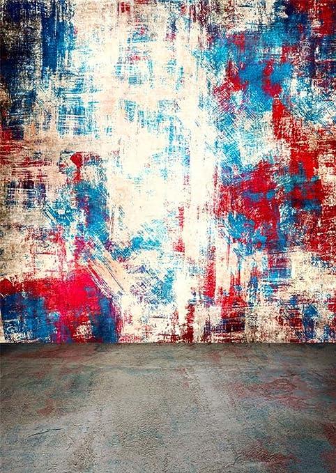 Peinture Abstraite Tâches Fond Pour Studio Photo Avec Sol En