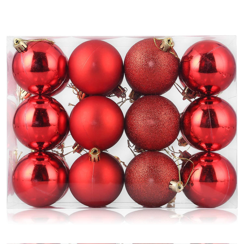gold Jubil/äum Party Weihnachtskugeln 24 St/ück 4cm Christbaumkugeln Baumkugeln Weihnachtsdekorationen Baumschmuck f/ür Christmasbaum Weinachtsbaum Tannenbaum Hochzeit f/ür Weihnachten Feier usw.