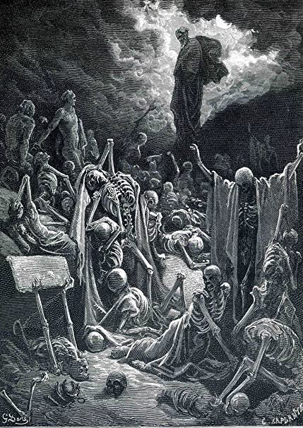 Gustave Dore: The Vision of the Valley of Dry Bones. Fine Art Print/