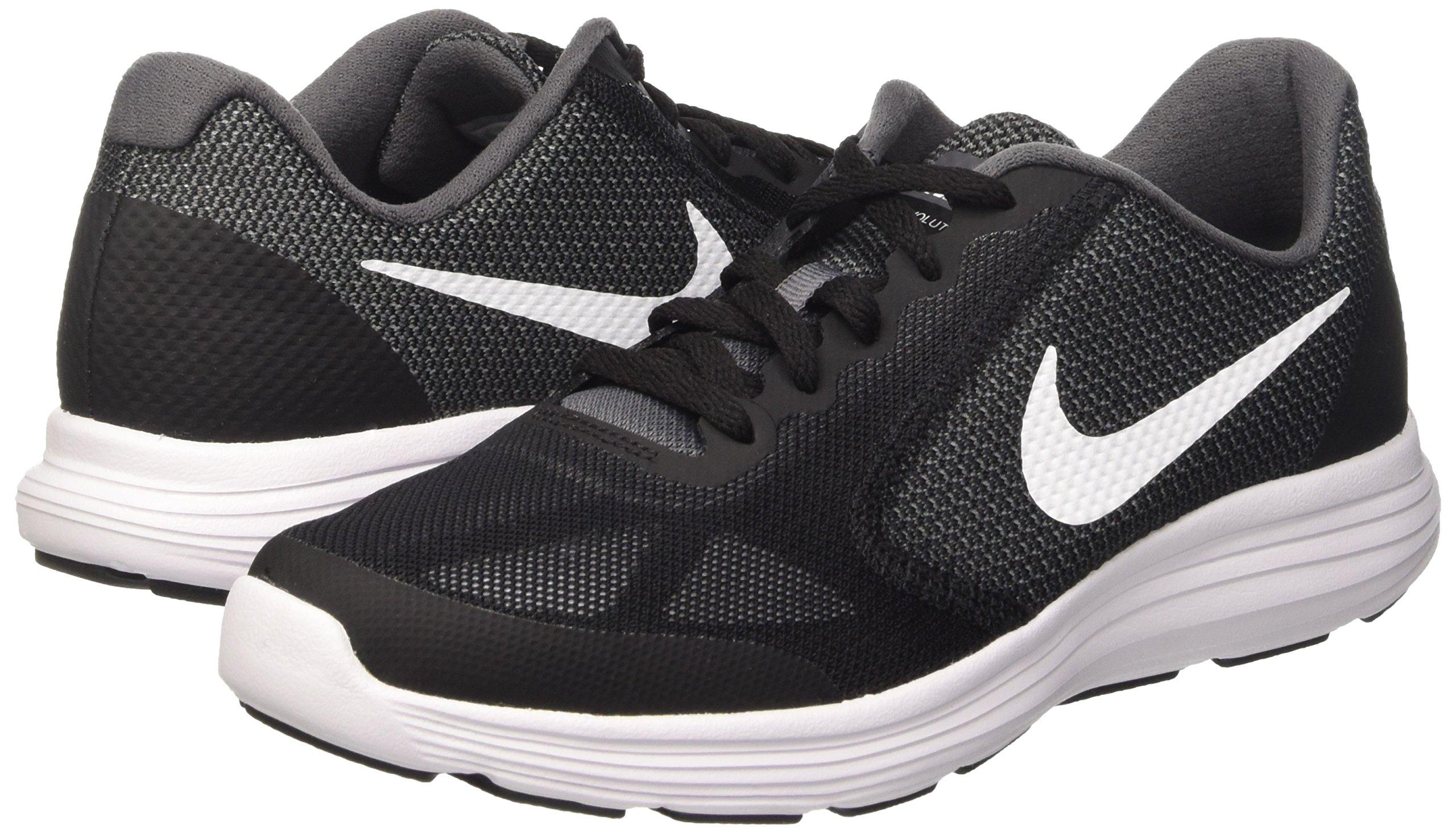 Nike Boys' Revolution 3 (GS) Running Shoe Dark Grey/White/Black/Pure Platinum 3.5 M US Big Kid by Nike (Image #5)