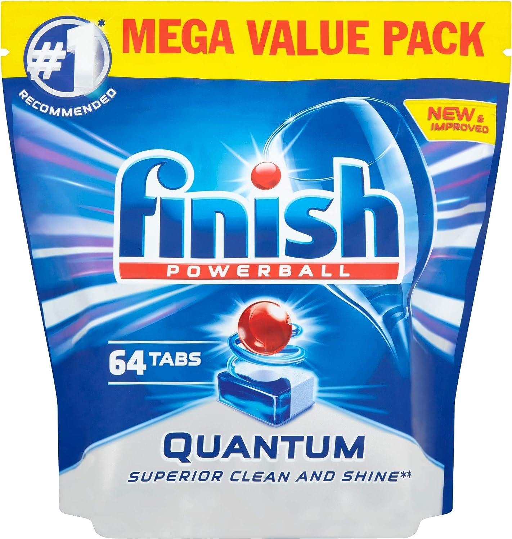 Finish Quantum Max Dishwasher Tablets, ORIGINAL, 64 Tablets