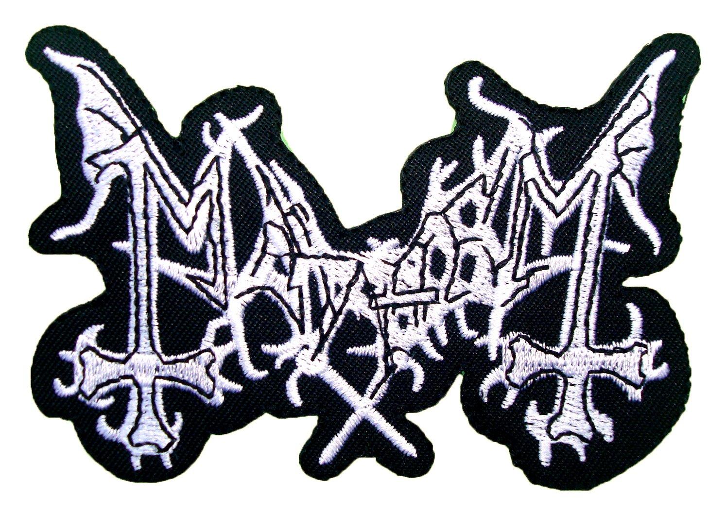 Amazon Mayhem Death Metal Band Logo T Shirt Mm28 Iron On Patches