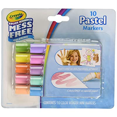 Crayola color wonder mess free 10 pastel markers: Toys & Games