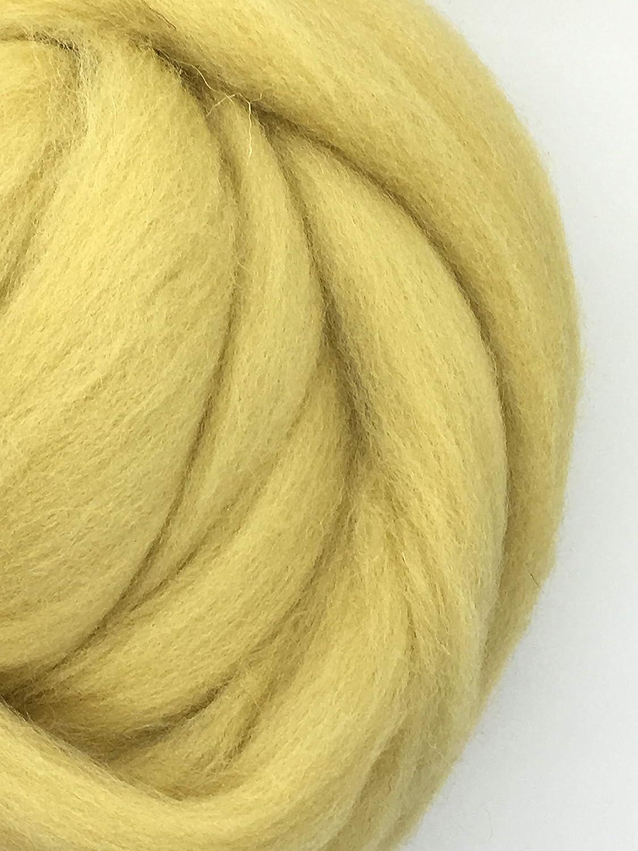 jumbo yarn spinning wool Tan Wool Roving Fiber Spinning wool fiber flesh tone wool weaving wool big yarn dread wool chunky yarn 2lb Felting wool giant yarn Felting Crafts USA Sheps Wool