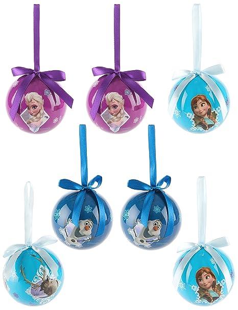 Regali Di Natale Frozen.7 Palle Natale Frozen Il Regno Di Ghiaccio