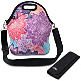Lunch bag, ASILA Neoprene Reusable Lightweight Washable Insulated Lunch Tote/Lunch Box/Cooler Bag for Women, Adults, Kids, Girls with Shoulder Strap&Zip Closure (LLBB1003)