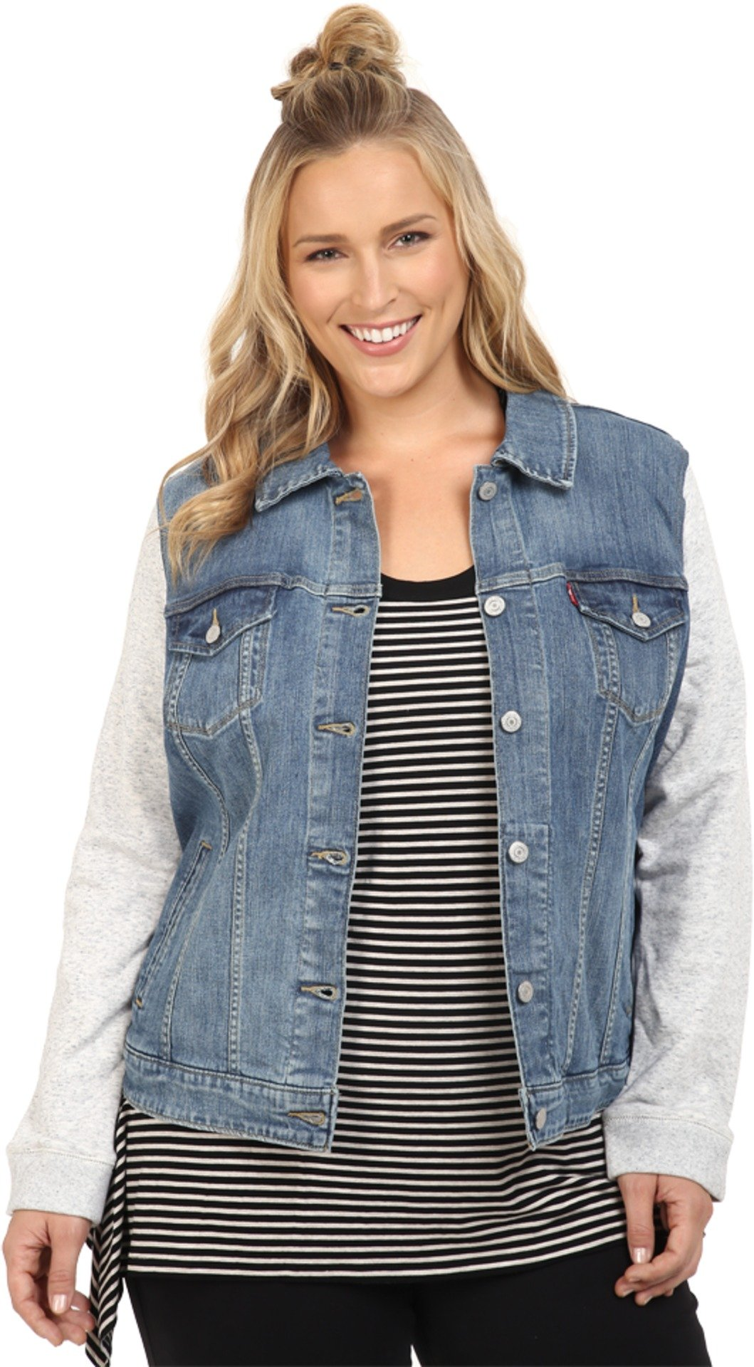 Levi's Women's Plus-Size Trucker Jacket, Ocean Sail, 2X