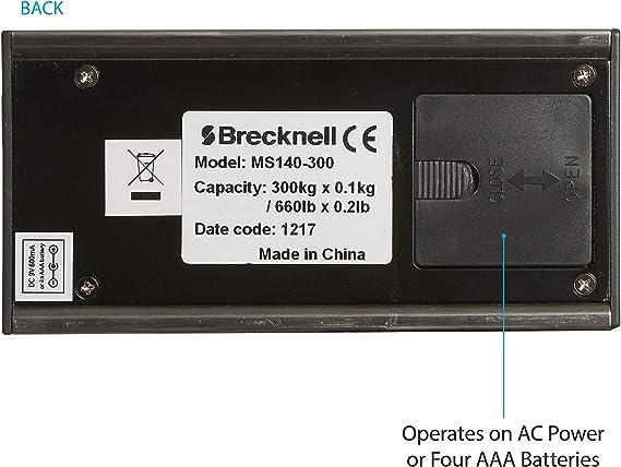 Amazon.com: Brecknell MS140-300 - Báscula digital portátil ...