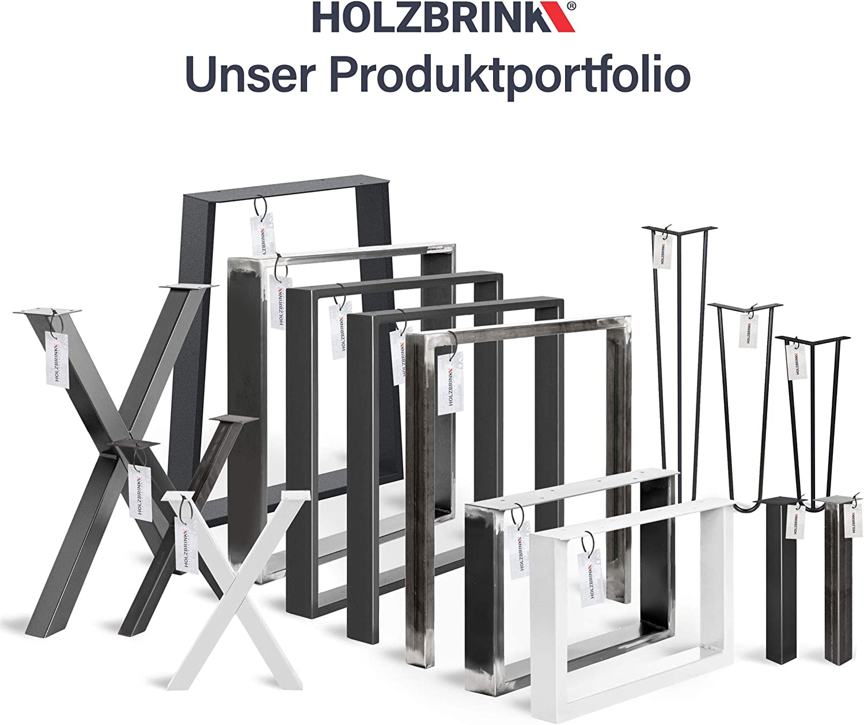 forma de marco 30x43 cm Negro Intenso HLT-01-D-AA-9005 HOLZBRINK Patas de Mesa perfiles de acero 60x30 mm 1 Pieza