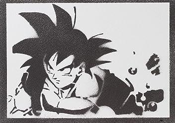 moreno-mata Son Goku Dragon Ball Handmade Street Art - Artwork - Poster
