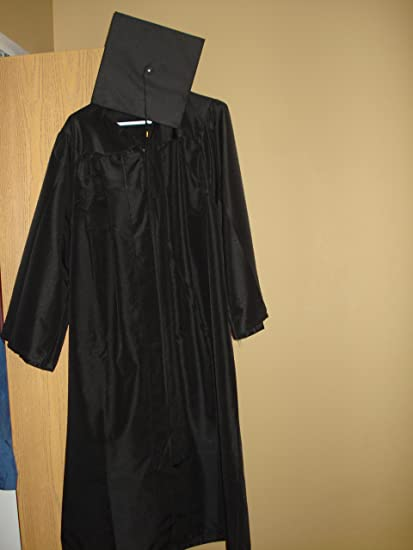 Amazon.com : Herff Jones Black Bachelor Cap and Gown : Other ...