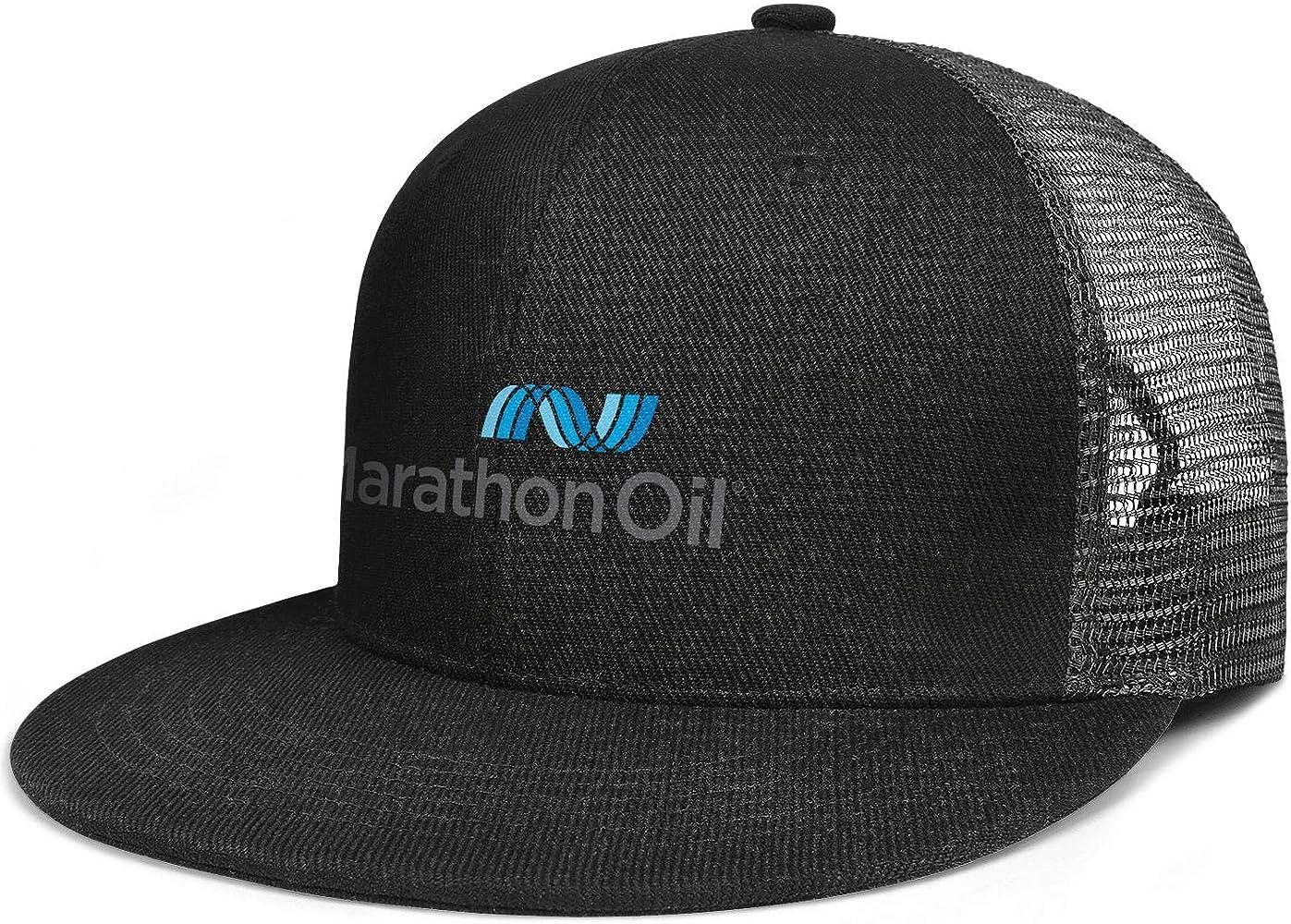 Unisex One Size Baseball Cap Marathon-Oil-Logo Plain Distressed Cotton Adult Cap