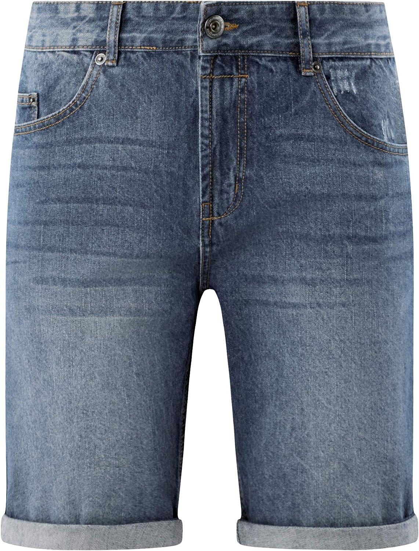 oodji Ultra Mens Distressed Denim Shorts