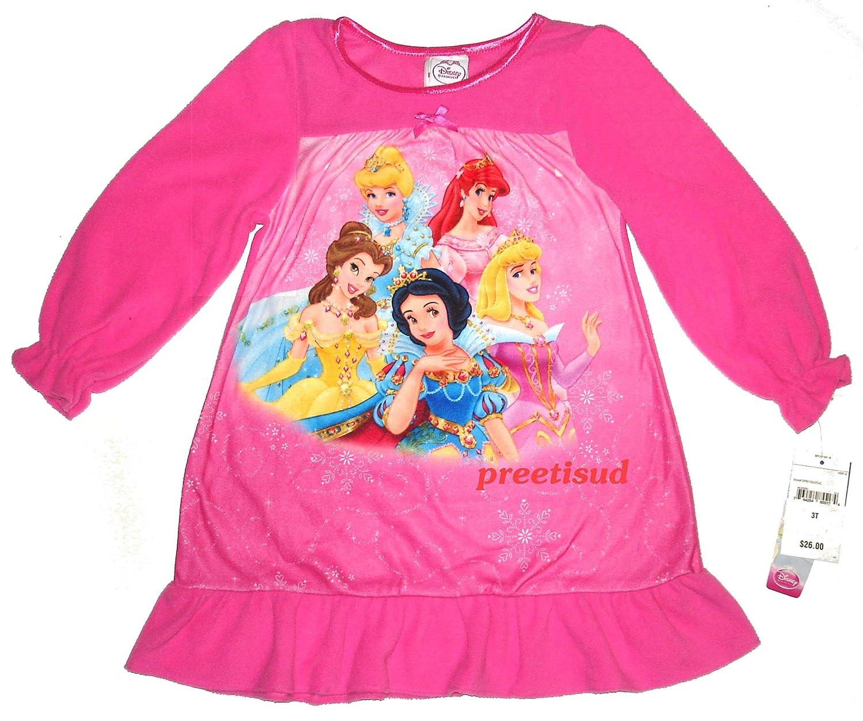 Disneys Enchanted Princesses Fleece Nightgown~ Toddler Girls 3T