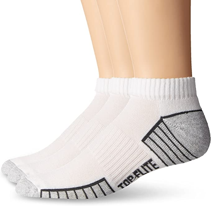12 Pairs Mens Sport Series White Low Cut No Show Cotton Socks 10-13  USA Made