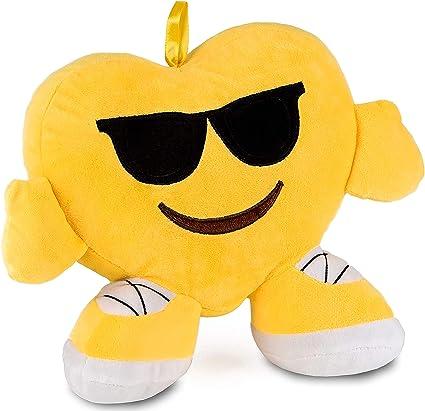 Brubaker Coussin En Peluche Emoticone Emoji 32 Cm Cool Lunettes De Soleil Amazon Fr Cuisine Maison