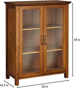 Amazon.com: Elegant Home Fashion Anna Floor Cabinet with 2 ...