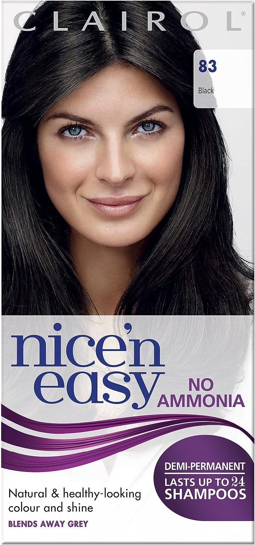Clairol Nicen Easy Coloración Demi-permanente, 83 Negro