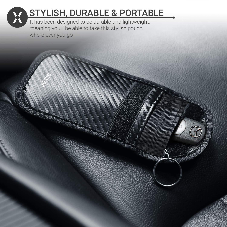 Car Key Signal Blocker for Car Keys Keyless Entry Carbon Fibre RFID /& NFC Signal Blocking Wallet Olixar RFID Key Pouch Faraday Pouch