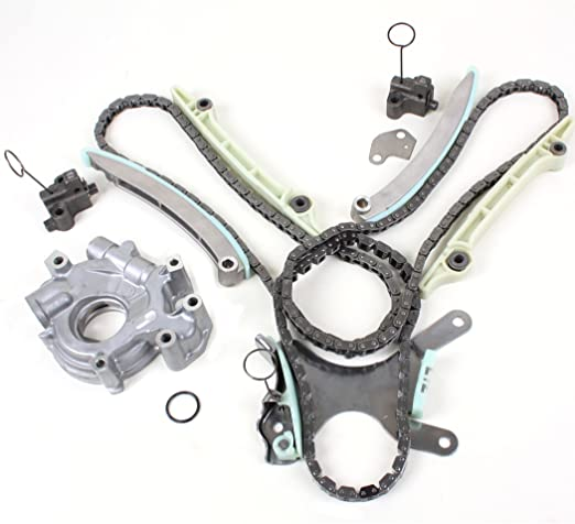 without Gears Incl. RTV Silicone /& Oil Pump Set New TK8090OP Timing Chain Kit for Dodge /& Jeep 4.7L 2000-08