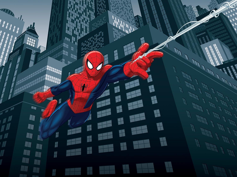 Papier AG Design FTD 2208  Spider-Man Marvel Papier Fototapete 360x254 cm 0,1 x 360 x 254 cm multicolor 4 teile