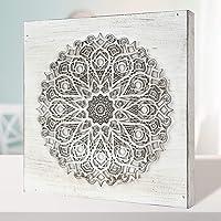 Cuadro Mandala de Pared Calada, Fabricada artesanalmente en España- Mandala 3D- Pintada a