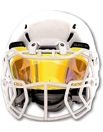 020b8a1b EliteTek Color Football & Lacrosse Eye-Shield Facemask Visor - Fits Youth &  Adult Helmets