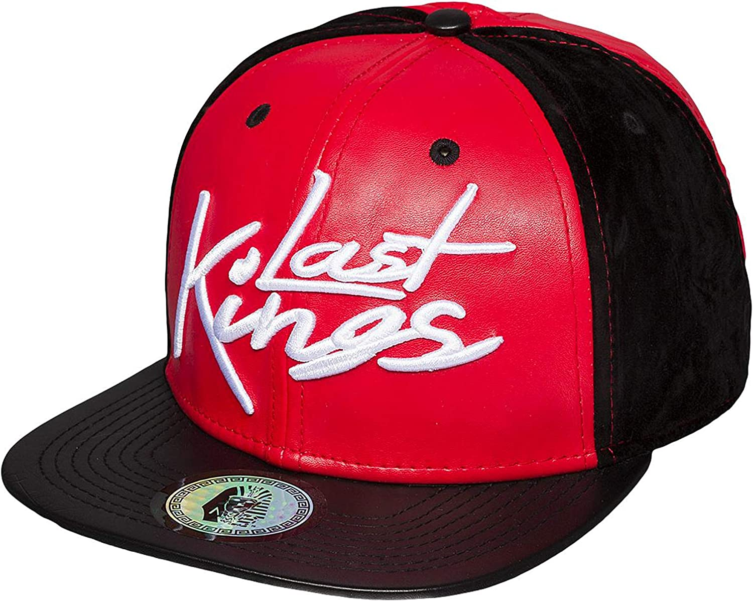 Last Kings Mujeres Gorras/Gorra Snapback Tag Faux Leather: Amazon ...