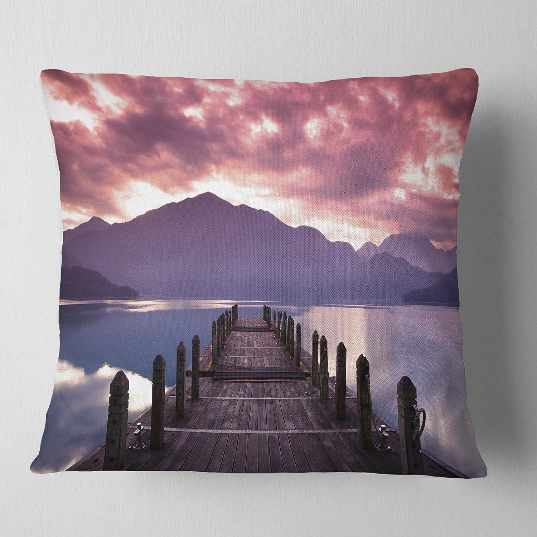 Sofa Throw Pillow Designart Cu6841 26 26 Beautiful Spring Sea At Morning Photography Cushion Cover For
