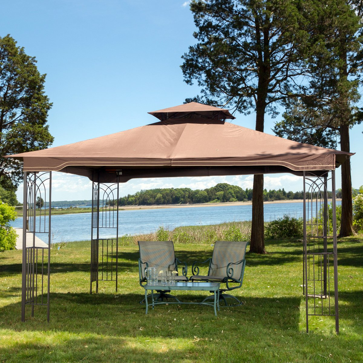 Amazon.com : 10 X 12 Regency II Patio Gazebo With Mosquito Netting : Patio,  Lawn U0026 Garden