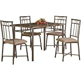 Coaster Home Furnishings Casual Dining Room 5 Piece Set, Black/Tan