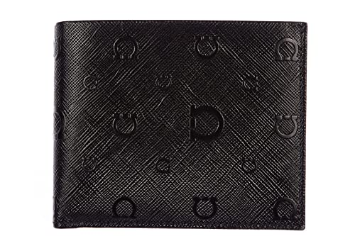 Salvatore Ferragamo monedero cartera bifold de hombre en piel nuevo logo printed: Amazon.es: Zapatos y complementos