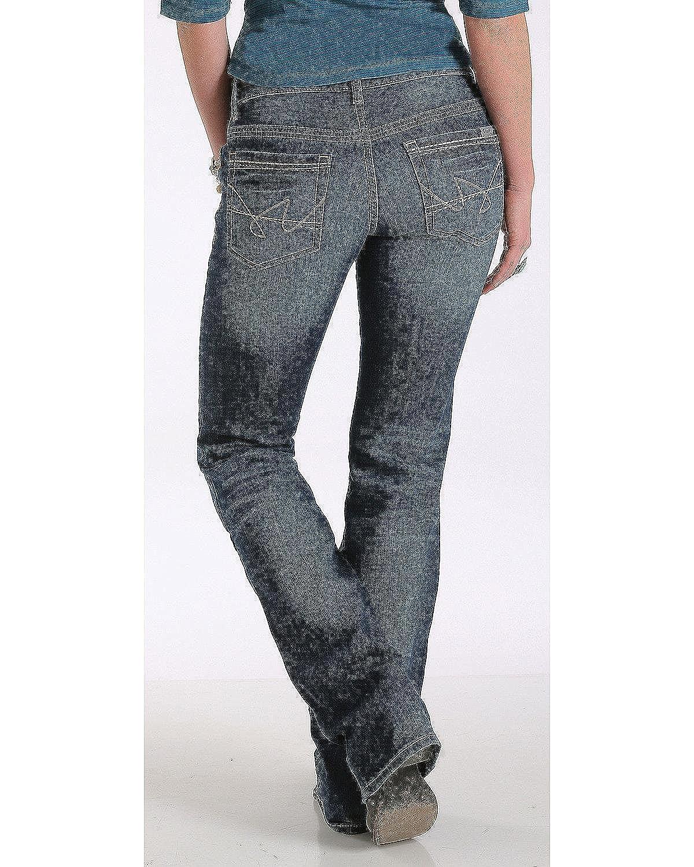 c5ba533d5a4 Cruel Girl Women s Abby Mid Rise Medium Wash Jeans Boot Cut Indigo 7 XL at Amazon  Women s Jeans store