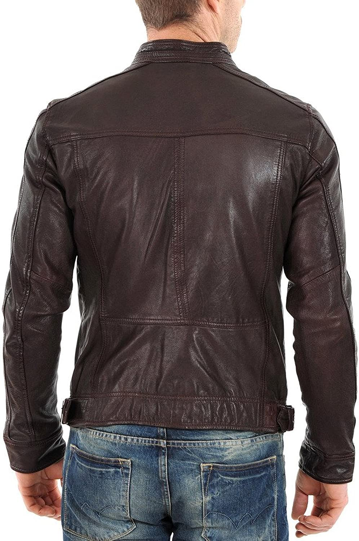 Kingdom Leather New Mens Leather Jacket Slim Fit Biker Motorcycle Genuine Lambskin Jacket X557