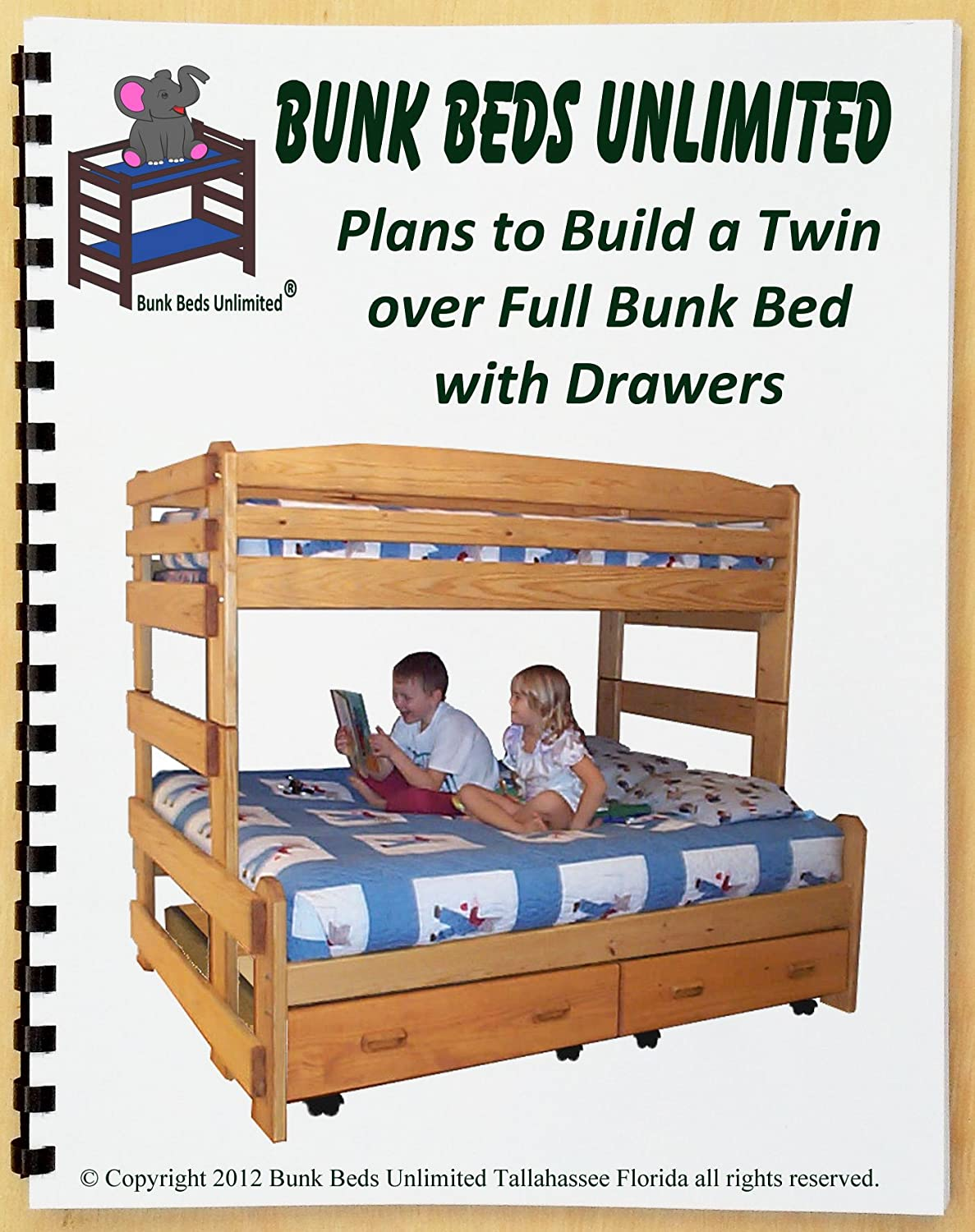 Wood bunk beds twin over full plans over full white for Build your own couch cheap
