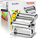 Innovee Pasta Maker – Highest Quality Pasta Machine - 150 Roller With Pasta Cutter – 9 Adjustable Thickness Settings – Make Perfect Spaghetti or Fettuccini – Heat-Treated Gears for Long Life