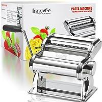 Innovee Nudelmaschine – 150 Rolle mit Pasta-Schneidemaschine – 7 verstellbare Dickeeinstellungen – Für perfekte Spaghetti oder Fettuccini