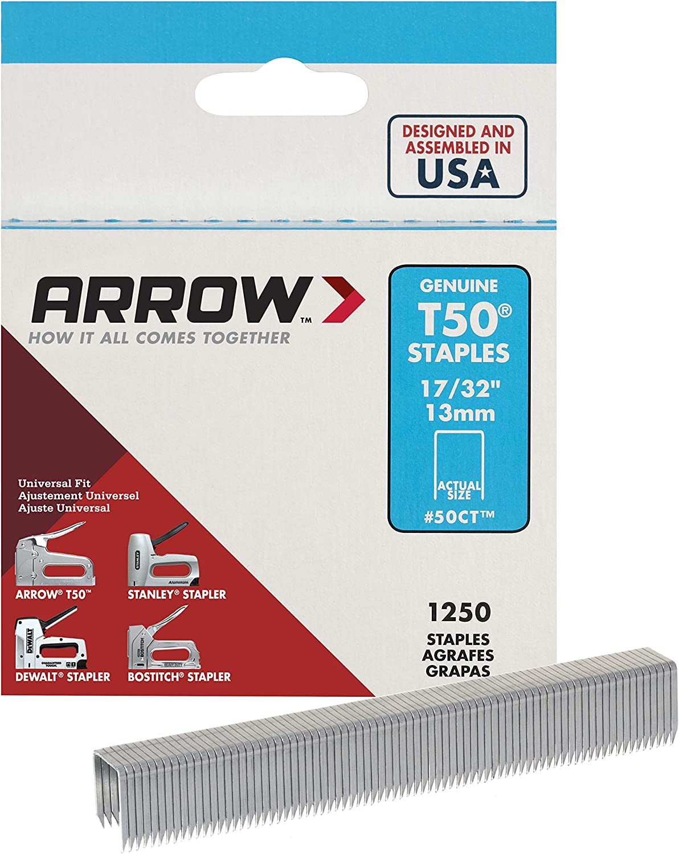 Arrow T50 Staples Box 1250 8mm 5//16in
