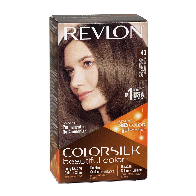 Revlon ColorSilk Hair Color 40 Medium Ash Brown 1 Each