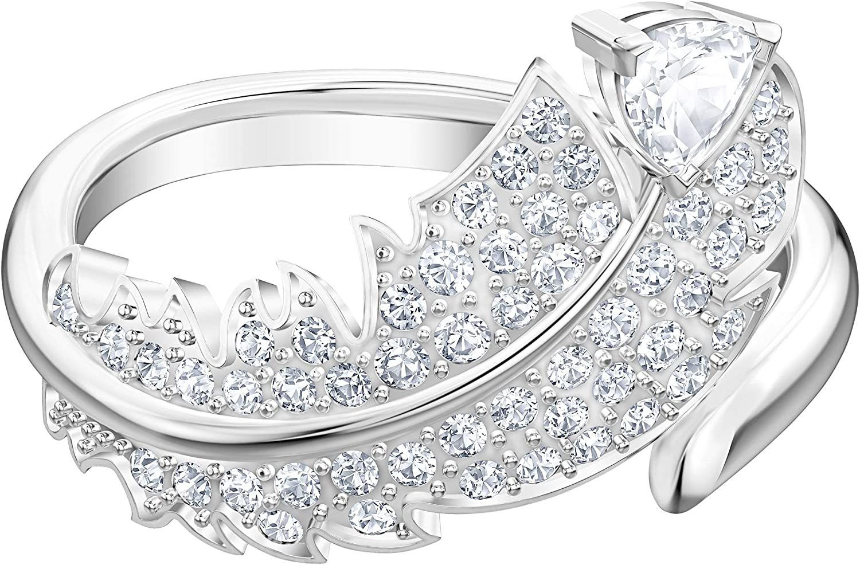 m/étal rhodi/é pour femme cristal blanc Bague Swarovski motif Nice
